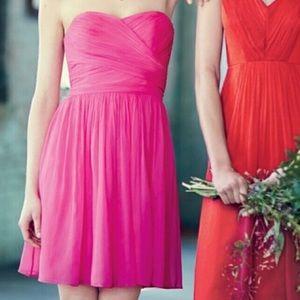 NWT J. Crew Pink Silk Chiffon Arabelle Dress Sz 6